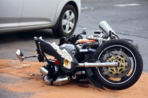motorbike accident on the city street in Hyannis, MA