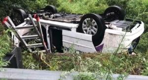 van rollover 2 fatalities